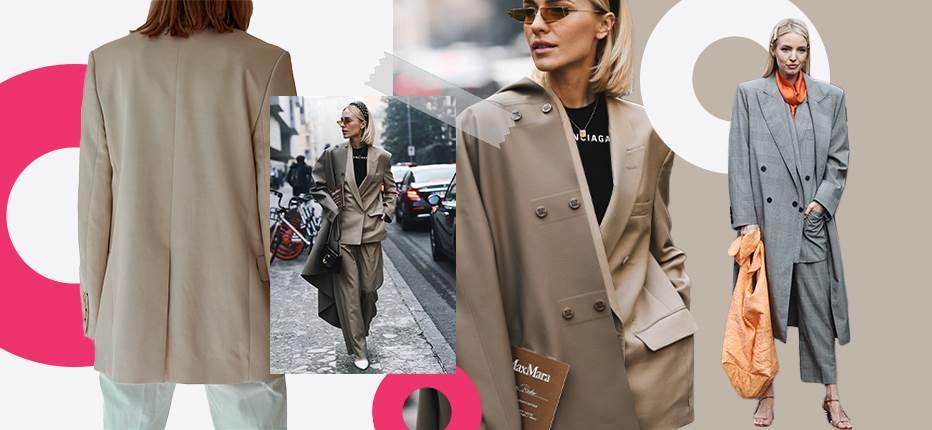 braon blejzer devojka sivi blejzer naočare i torba
